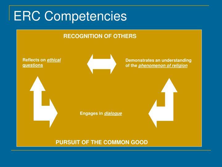 ERC Competencies