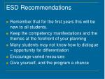 esd recommendations