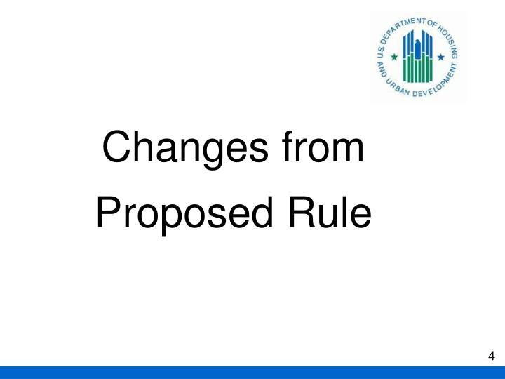 Changes from Proposed Rule