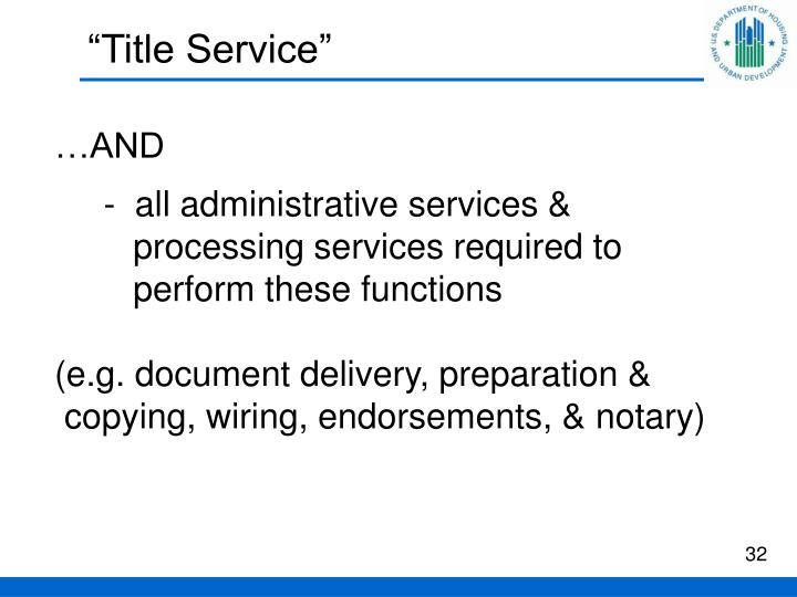 """Title Service"""