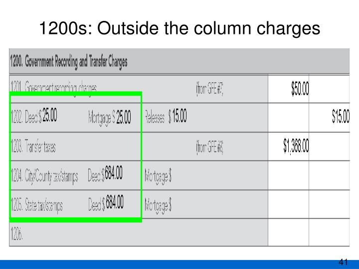 1200s: Outside the column charges