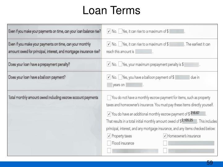 Loan Terms