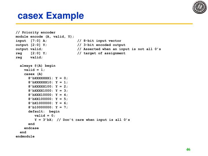 casex Example