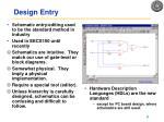 design entry