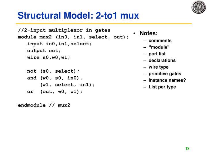 //2-input multiplexor in gates