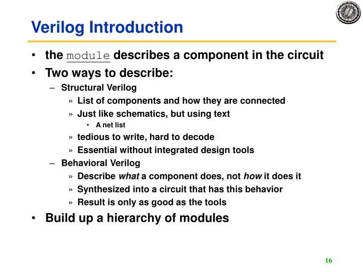 Verilog Introduction