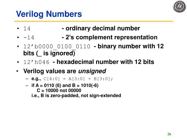 Verilog Numbers