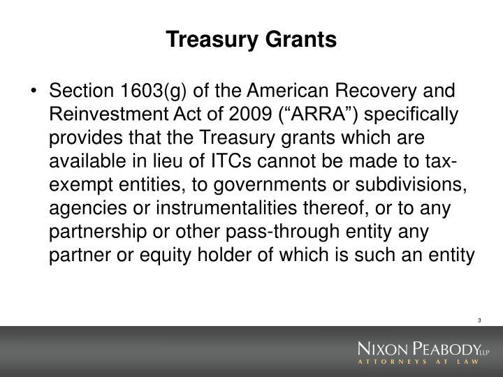 Treasury Grants
