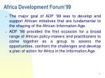 africa development forum 992