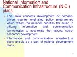 national information and communication infrastructure nici plans