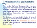 the african information society initiative aisi1