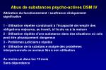 abus de substances psycho actives dsm iv