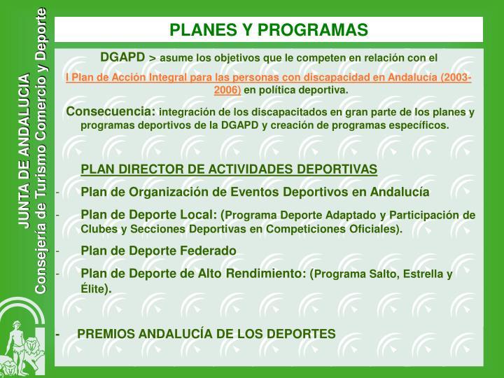 PLANES Y PROGRAMAS