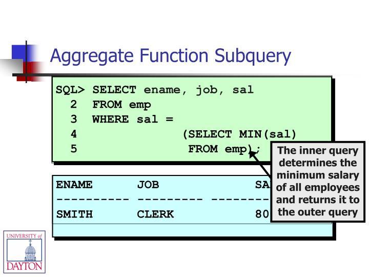 SQL> SELECT