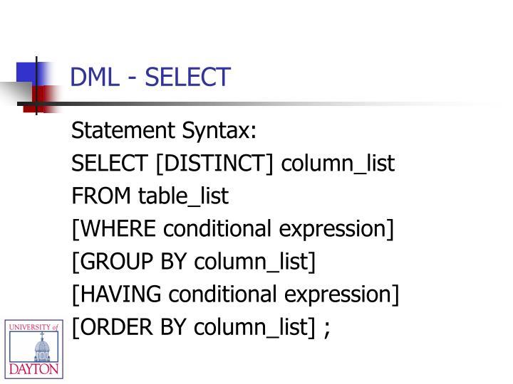 DML - SELECT