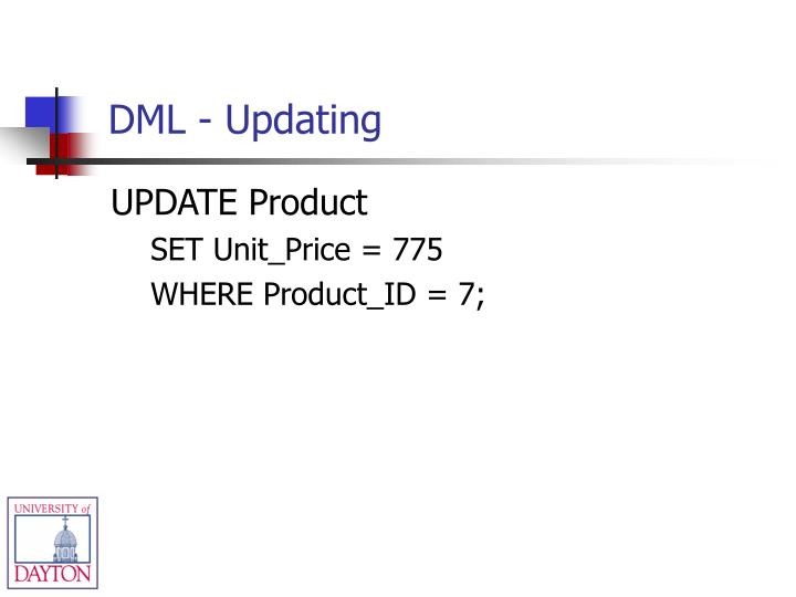 DML - Updating
