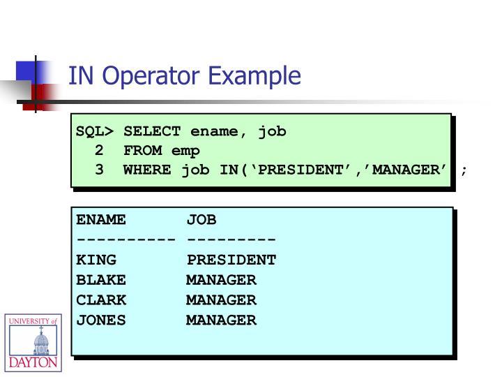 SQL> SELECT ename, job