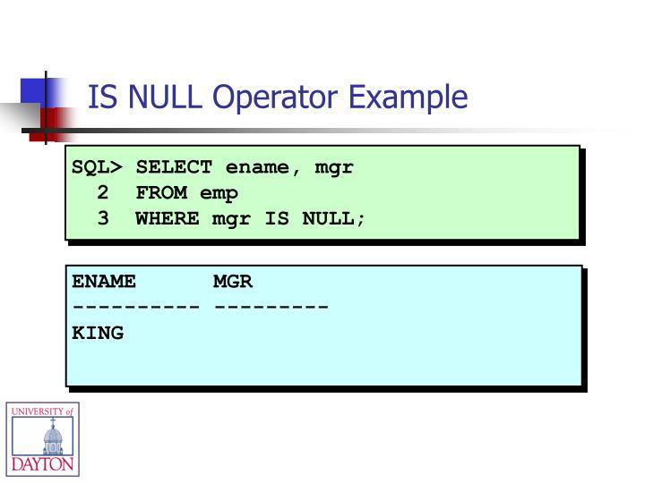 SQL> SELECT ename, mgr