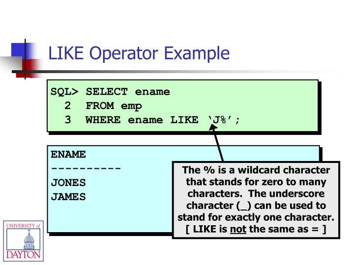SQL> SELECT ename