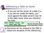 referencing a table by owner