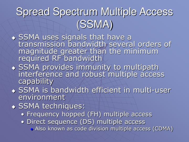 Spread Spectrum Multiple Access (SSMA)