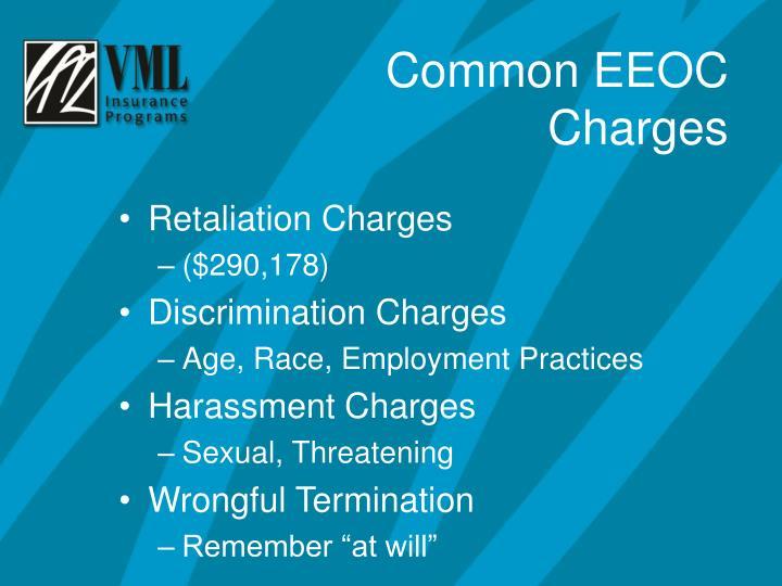 Retaliation Charges