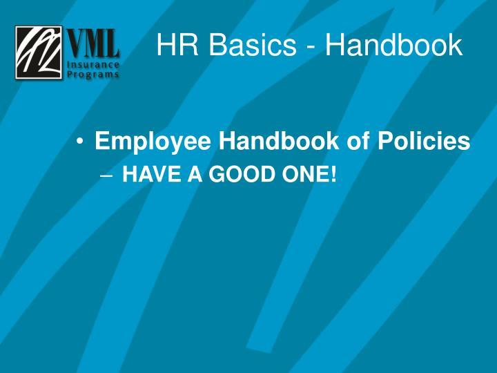 Employee Handbook of Policies