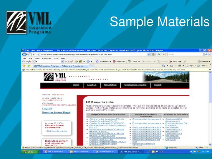 Sample Materials
