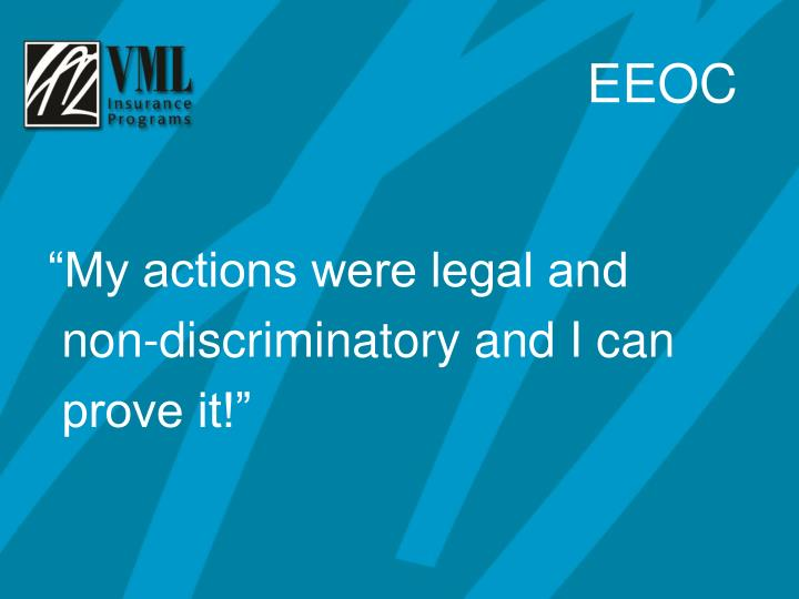 """""""My actions were legal and"""