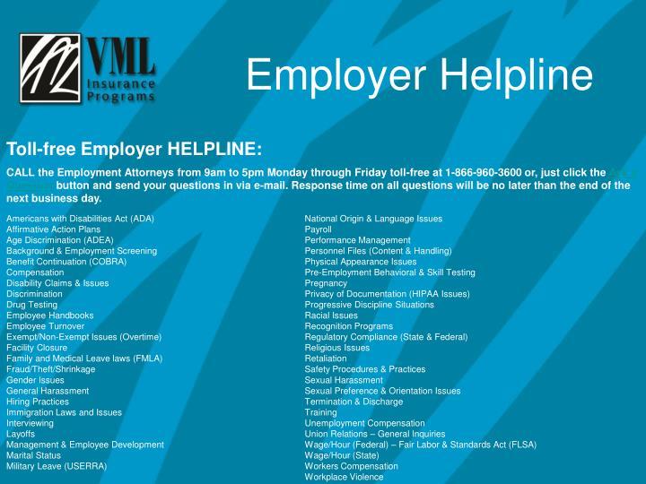 Employer Helpline