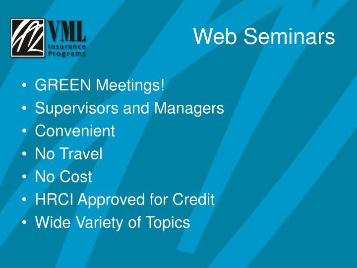 GREEN Meetings!