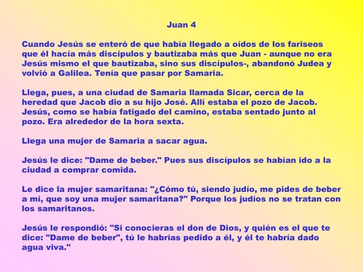 Juan 4