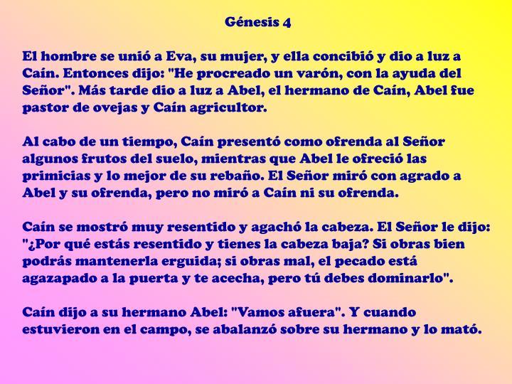 Génesis 4