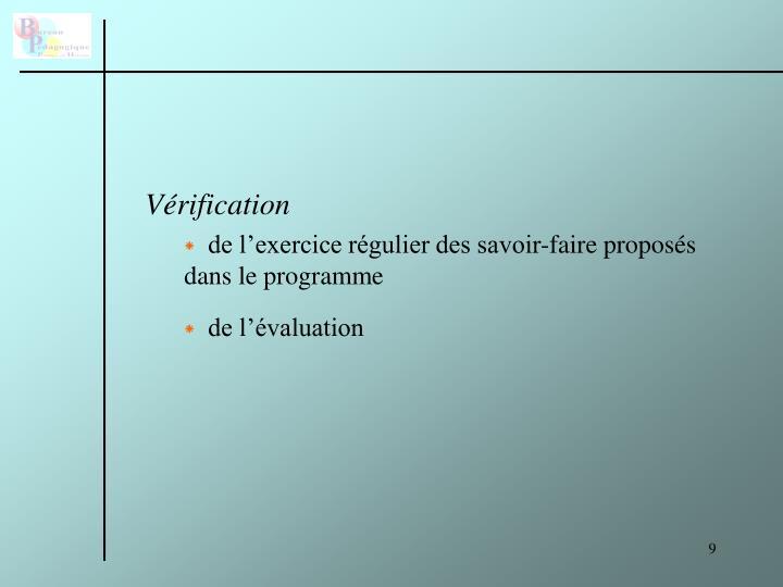Vérification