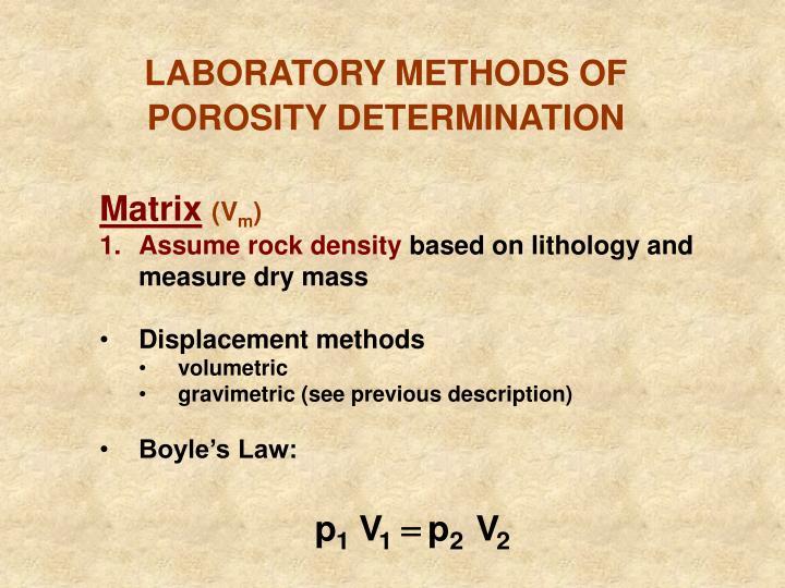 LABORATORY METHODS OF