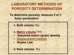 laboratory methods of porosity determination4