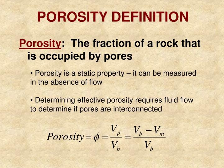 POROSITY DEFINITION