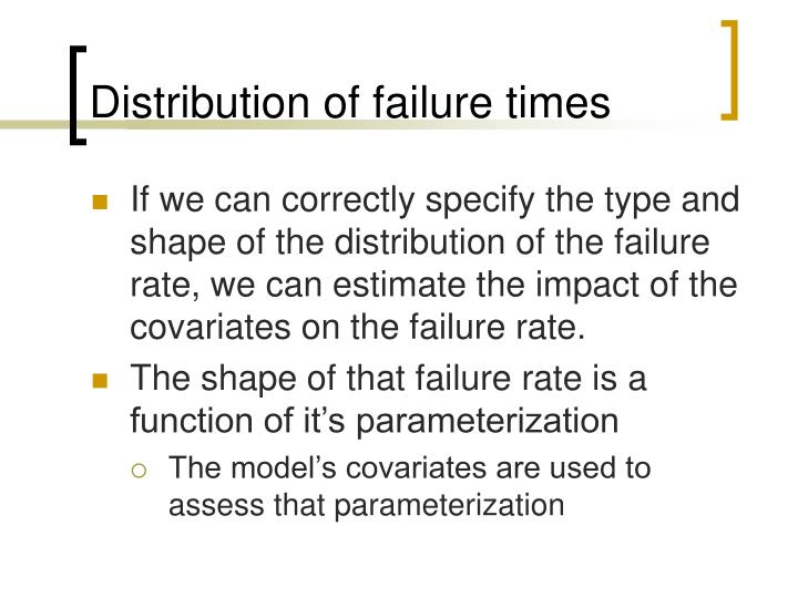 Distribution of failure times