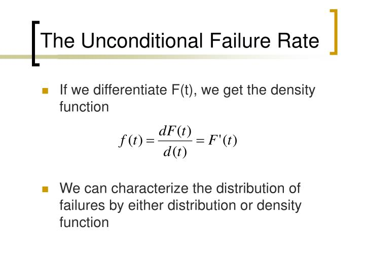 The Unconditional Failure Rate