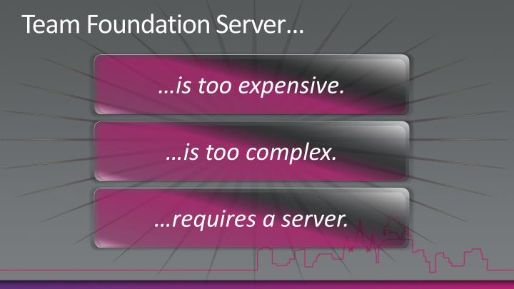 Team Foundation Server…