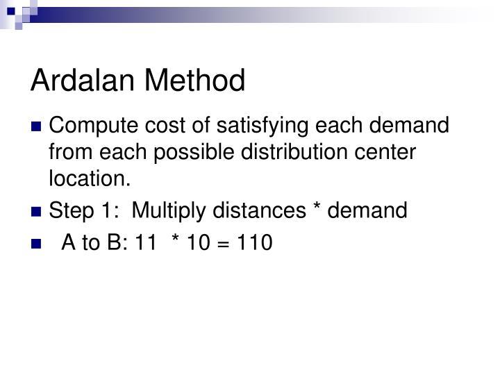Ardalan Method