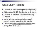 case study retailer