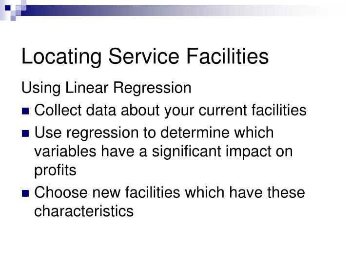 Locating Service Facilities