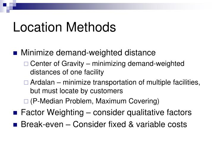 Location Methods
