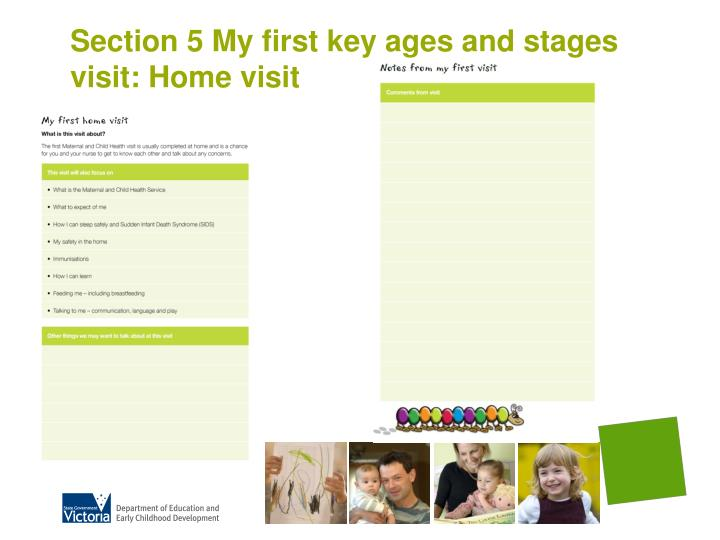 Section 5 My first key ages and stages visit: Home visit