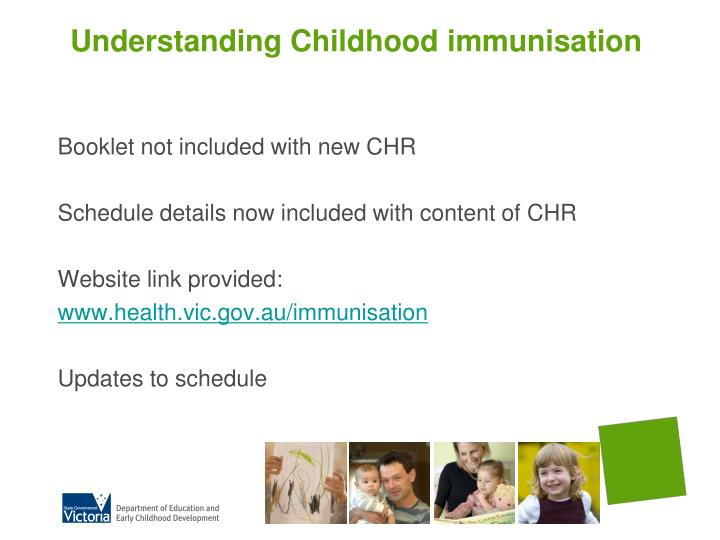 Understanding Childhood immunisation