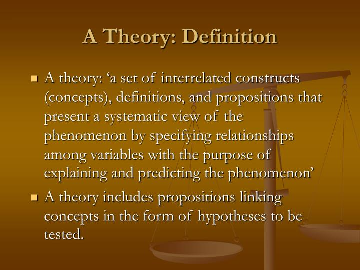 A theory definition