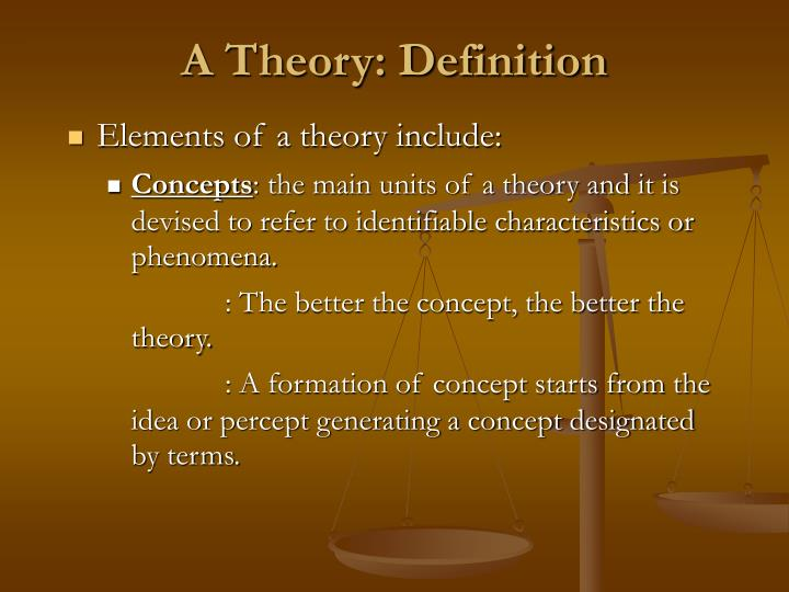A theory definition1