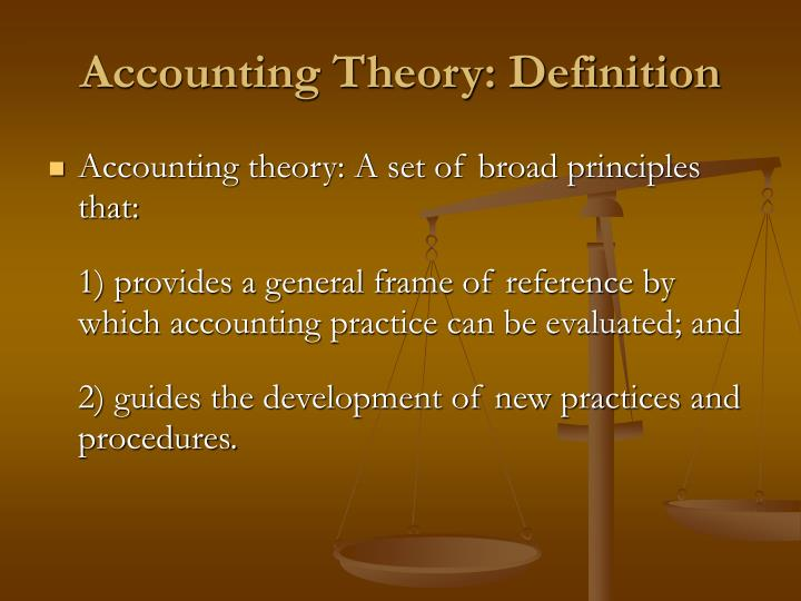 Accounting Theory: Definition