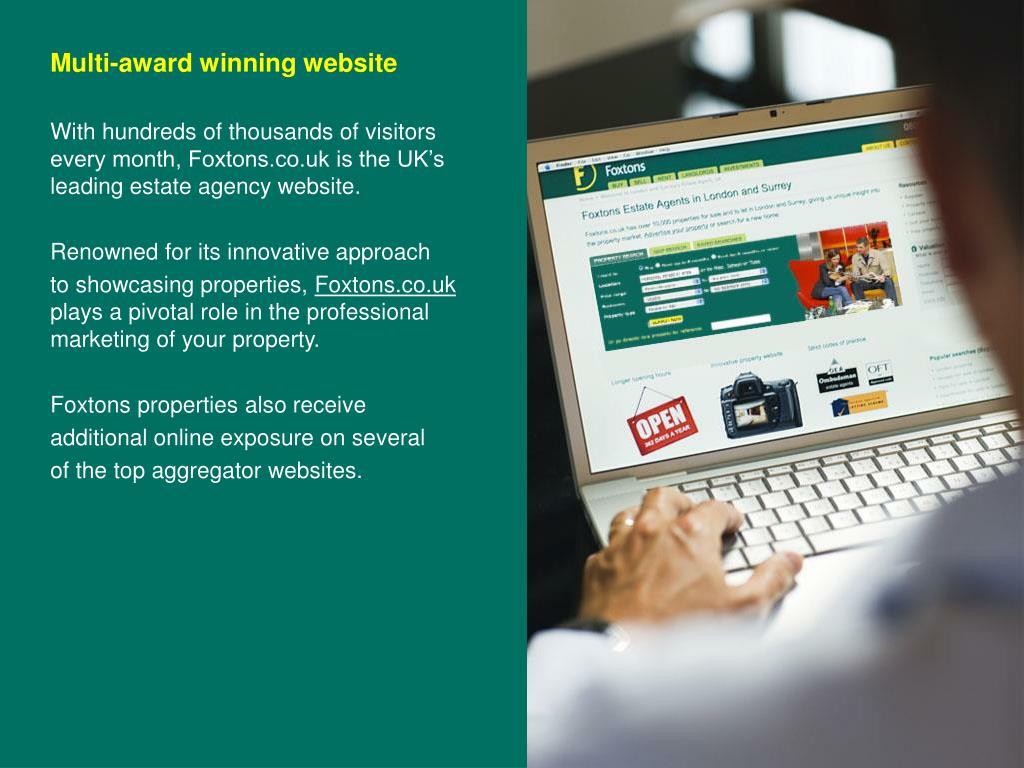 Multi-award winning website